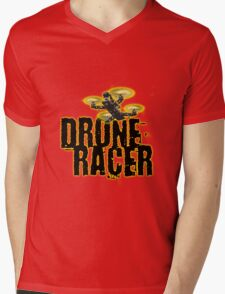 Drone Racer (Yellow) Mens V-Neck T-Shirt