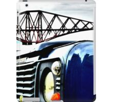 SUV in front of Forth Rail Bridge iPad Case/Skin