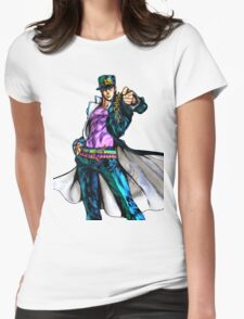 JoJo's Bizarre Adventure - Jotaro Kujo Womens Fitted T-Shirt