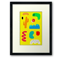 Toes in the desert Framed Print