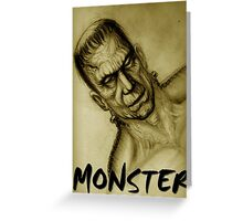 frankenstein monster Greeting Card
