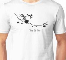 Cyclist Falls Off Bike Unisex T-Shirt