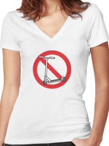 Scooter Free Zone Women's Fitted V-Neck T-Shirt