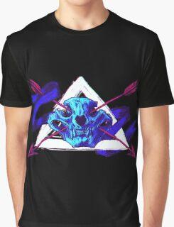 Byzantium Skull Bear Graphic T-Shirt