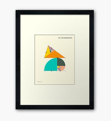 PHI: THE GOLDEN RATIO Framed Print