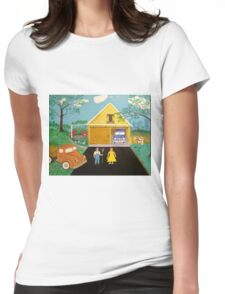 My Farm Painting Womens Fitted T-Shirt