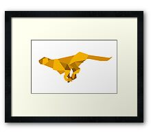origami made  running Cheetah Framed Print
