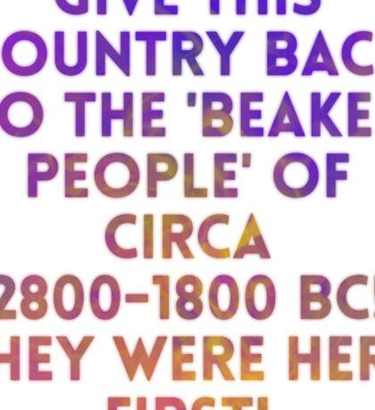Beaker People Sticker