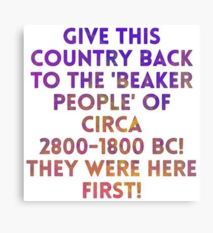 Beaker People Canvas Print