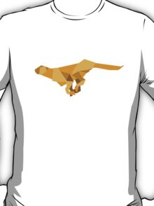 origami made  running Cheetah T-Shirt