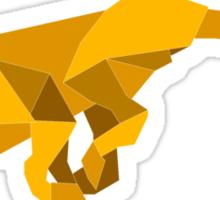 origami made  running Cheetah Sticker
