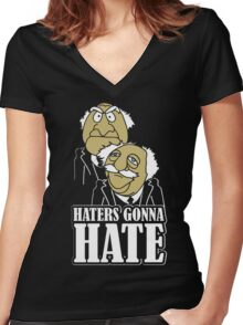 Hater Gonna Hate Women's Fitted V-Neck T-Shirt