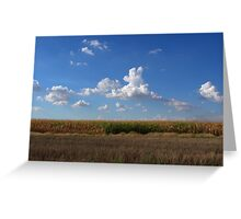 wispy clouds Greeting Card