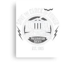 Hill Valley Preservation Society Canvas Print