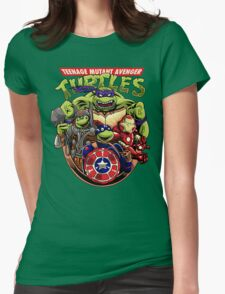 Avenger Turtles Womens Fitted T-Shirt