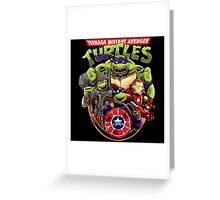Avenger Turtles Greeting Card