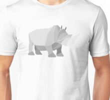 origami made rhino Unisex T-Shirt