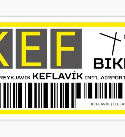 Destination Keflavik Airport Sticker