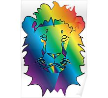 Funky lion Poster
