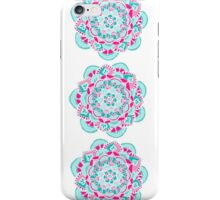 Hot Pink & Teal Mandala Flower iPhone Case/Skin