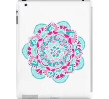 Hot Pink & Teal Mandala Flower iPad Case/Skin