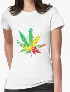 Canabis Womens Fitted T-Shirt