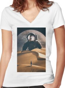 The Giant Women's Fitted V-Neck T-Shirt