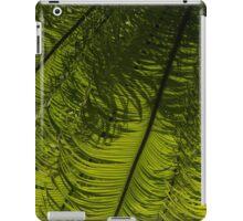 Tropical Green Rhythms - Feathery Fern Fronds - Horizontal View Down Left iPad Case/Skin