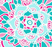 Hot Pink & Teal Mandala Flower Sticker
