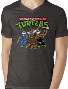 Killer Turtles Mens V-Neck T-Shirt