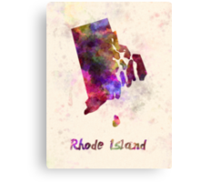 Rhode Island US state in watercolor Canvas Print