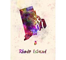 Rhode Island US state in watercolor Photographic Print
