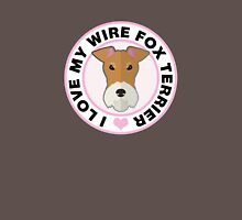 Love My Wire Fox Terrier Womens Fitted T-Shirt