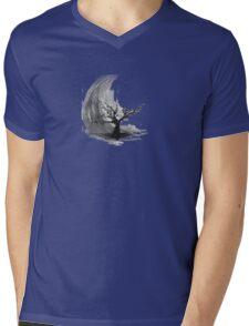 Sumi e sakura tree Mens V-Neck T-Shirt