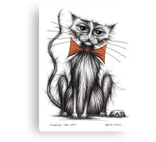 Tiddles the cat Canvas Print