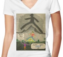 Just Get Over it Women's Fitted V-Neck T-Shirt