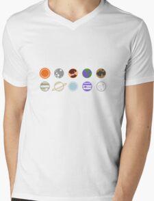 mimilist planets Mens V-Neck T-Shirt