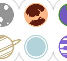 mimilist planets Sticker
