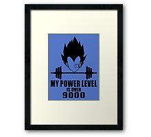 power over 9000 Framed Print