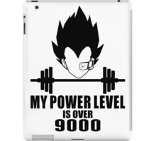 power over 9000 iPad Case/Skin
