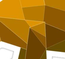 origami made brown bear Sticker