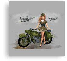 Spitfire Pin Up Art Canvas Print