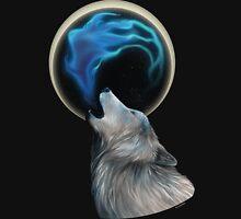 White Fire Wolf Unisex T-Shirt