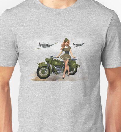 Spitfire Pin Up Art Unisex T-Shirt