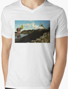 Breakout Mens V-Neck T-Shirt