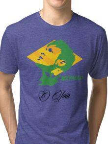 BRAZIL NEYMAR JR. WC 14 FOOTBALL T-SHIRT Tri-blend T-Shirt