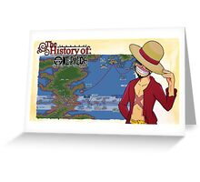 History Of One Piece Greeting Card