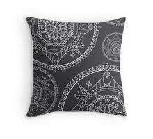 Psychedelic mandala pattern  Throw Pillow