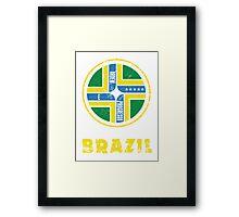 Brazil National Colours Framed Print