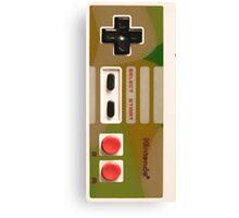 8 Bit Nintendo Camo controller Canvas Print